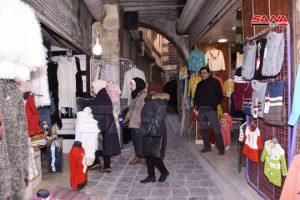 La vida vuelve a un mercado antiguo en Alepo
