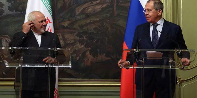 لافروف وظريف يؤكدان ضرورة القضاء على ما تبقى من بؤر الإرهاب في سورية