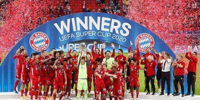 بايرن ميونيخ يتوج بكأس السوبر الأوروبي لكرة القدم
