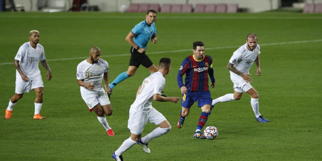 برشلونة يسحق فرنسفاروش بخماسية في دوري أبطال أوروبا