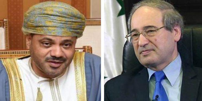 المقداد يتلقى اتصالاً هاتفياً من نظيره العماني بحثا خلاله سبل تعزيز التعاون الثنائي