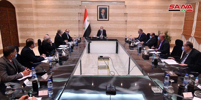 المهندس عرنوس يبحث مع مجلس إدارة غرفة التجارة السورية الإيرانية توسيع الاستثمارات المشتركة