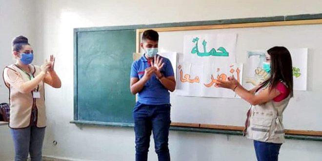 عبر مشاركة 180 متطوعاً…. مبادرة (لنعبر معاً) المجتمعية بالسويداء تقدم دعماً لمرضى الكورونا