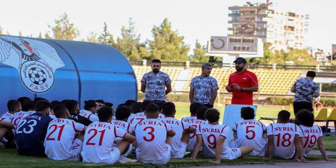 منتخب سورية الأولمبي لكرة القدم يواصل معسكره التحضيري لتصفيات آسيا
