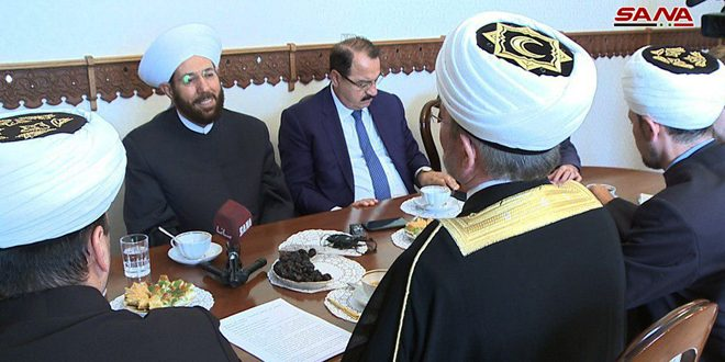 Hassoun, Head of Russian Council of Muftis discuss enhancing cooperation
