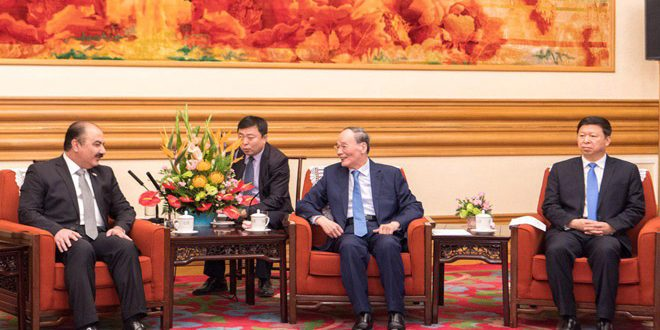 China's Vice President stresses his country's supportto Syria in countering terrorism