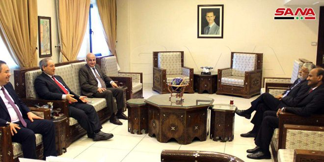 Mikdad: Syrian-Indian relations deep and strong