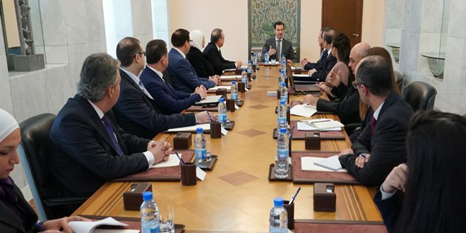 President al-Assad chairs meeting on national project for administrative reform