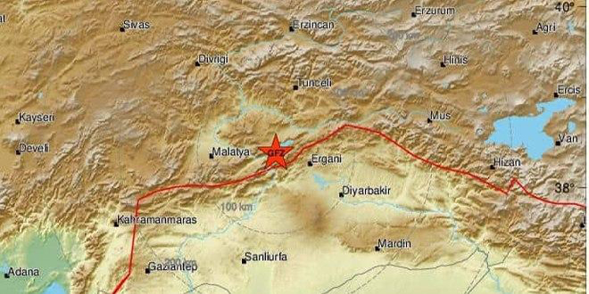 Earthquake registering 6.9 on Richter Scale occurs in Turkey and is felt across Syria