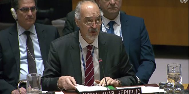 Al-Jaafari: Some countries seek to turn Security council into a platform for NATO to support Turkish aggression on Syrian territories