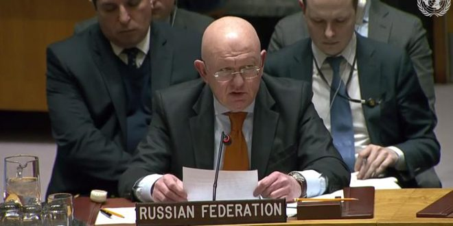 Nebenzya: Terrorists in Idleb continue their attacks, Syrian Army has full right to respond