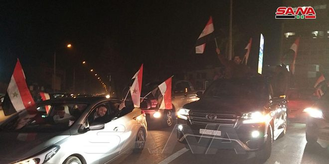 Joy of citizens in Aleppo after the victories achieved by the Syrian Army and liberating villages and towns surrounding the city from terrorism(photos)