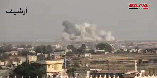 Turkish occupation and its mercenaries shell surroundings of Tel Tamr in Hasaka countryside