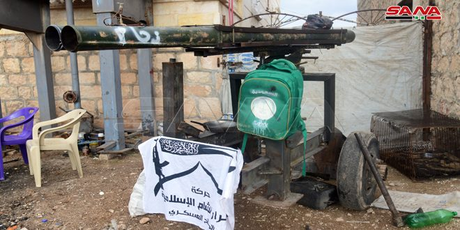Army units uncover terrorists' weapons, ammo, and tunnels near Hayyan town in Aleppo countryside