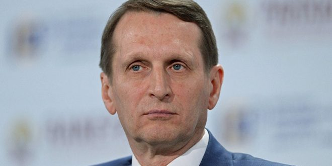 "Naryshkin: West continues helping ""White Helmets"" in its media war against Syria"