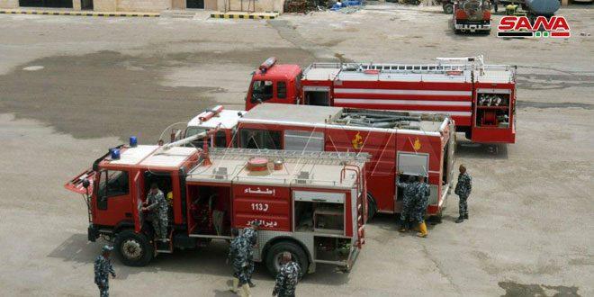 Deir Ezzor Fire Brigade on high alert as wheat harvest and high temperatures start