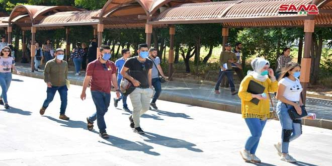 Al-Baath University's students