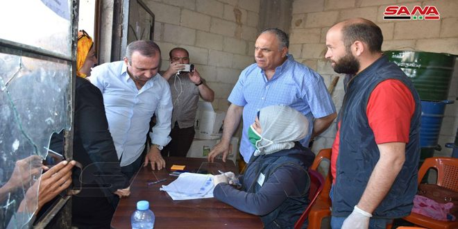 Several projects inspected in Idleb southeastern countryside, four halls of Syrian Trade opened