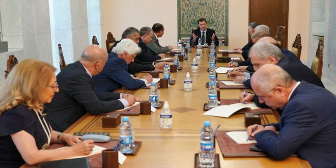 President al-Assad chairs meeting for central leadership of al-Baath Party