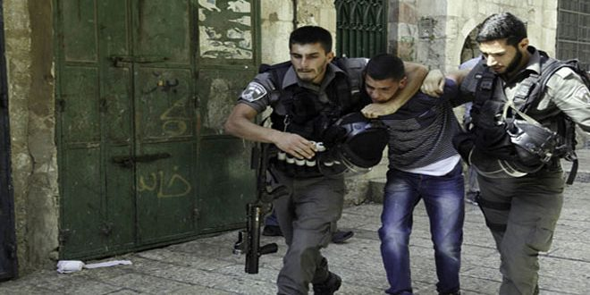 Israeli occupation forces arrest two Palestinians in Hebron
