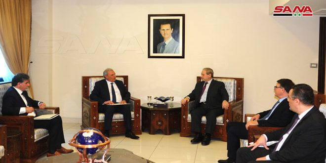 Mikdad to Palestinian Deputy PM: Our mutual struggle against US and Israeli policies will restore our rights