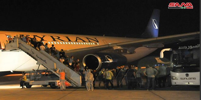 Second batch of Syrian students in India arrive in Damascus and a medicine shipment to confront corona