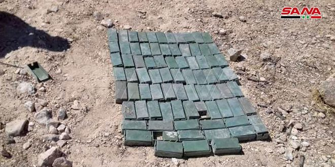 Weapons and ammunition left behind by terrorists found in Hama countryside