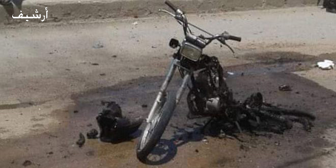 A civilian martyred, seven injured in explosion of a motorcycle bomb in Aleppo northern countryside