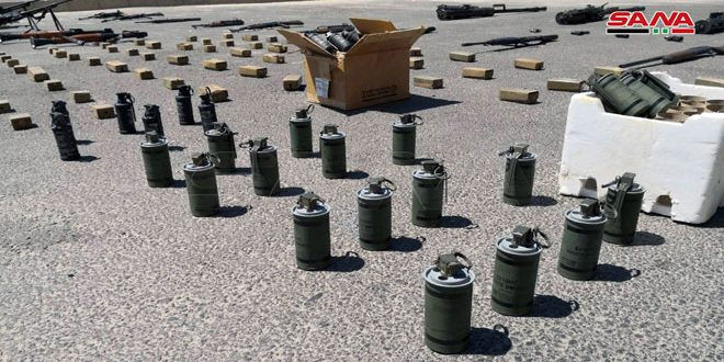 Authorities seize large amounts of weapons left behind by terrorists in southern region, including US, Israeli-made mines