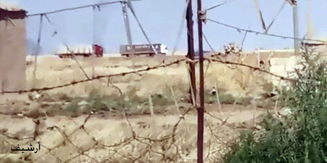 US occupation brings in 20 vehicles laden with military and logistic materials to Its illegal bases in Hasaka countryside