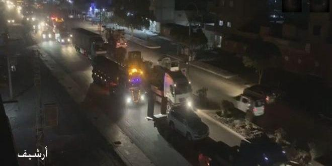 US occupation brings in 60 military vehicles to its illegitimate bases in Hasaka