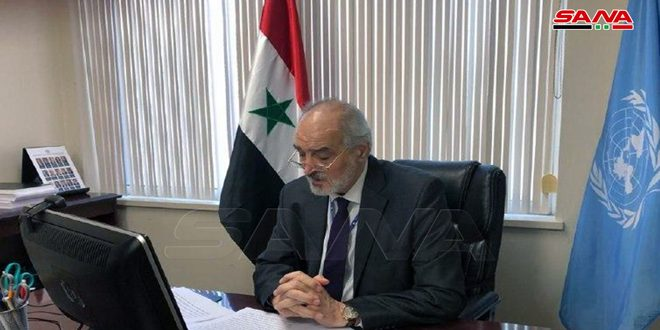 Al-Jaafari: The West distorts scientific facts, fabricates lies regarding chemical file in Syria, this file must be closed