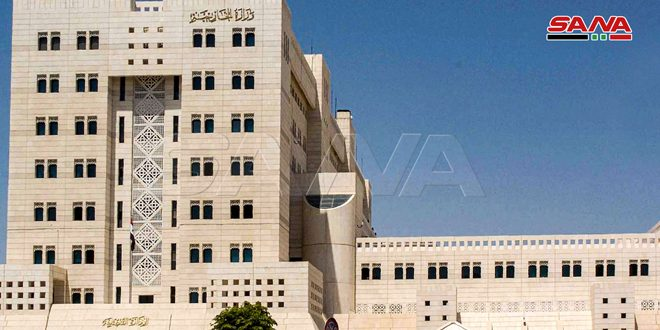 Foreign Ministry: Syria reiterates its legitimate right to defend its sanctity, sovereignty, people and territory with all legitimate means