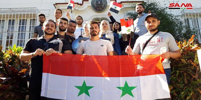 Syrian students in Cuba support their homeland in the war against terrorism
