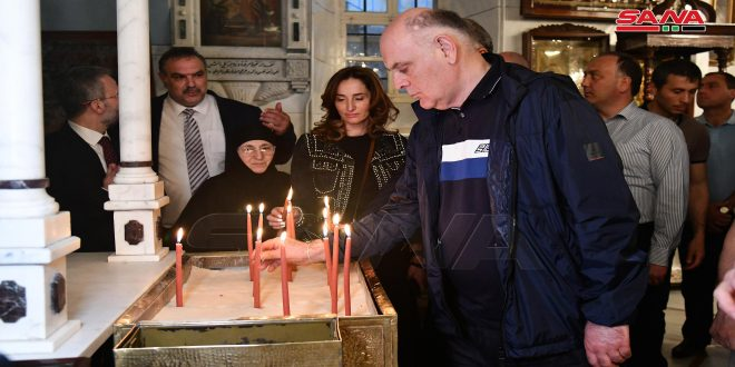 President of Abkhazia visits Maaloula and Sednaya towns in Damascus countryside