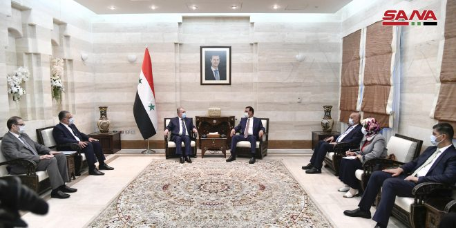 Prime Minister, Iraqi Agriculture Minister discuss securing needs of Syrian and Iraqi markets