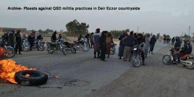 Several QSD militants injured in an explosion in Abu Hamam town, Deir Ezzor countryside