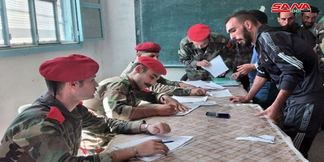 Tens of militants, wanted persons have their legal status settled in several villages and towns in Daraa countryside