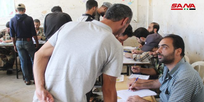 Legal cases of some militants and wanted persons settled in Tal Shahab of Daraa countryside