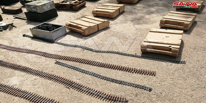 Ejército incauta armas y municiones dejadas por terroristas en provincia de Deraa