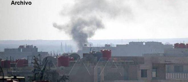 El ocupante turco y sus mercenarios bombardean los poblados en el norte de Hasakeh