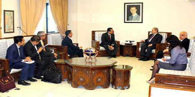 Siria e Indonesia ratifican su histórica relación de amistad