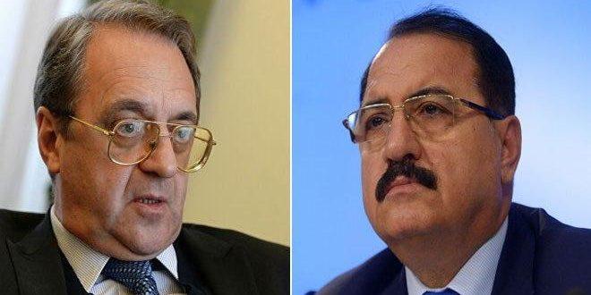 Haddad y Bogdanov repasan el fortalecimiento de la cooperación bilateral entre Siria y Rusia