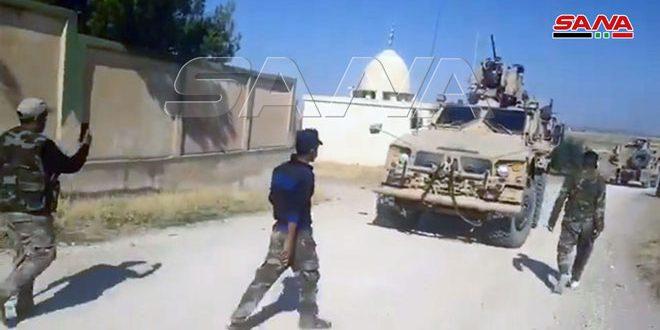 Militares sirios interceptaron un convoy militar de EE.UU y lo obligan a dar marcha atrás
