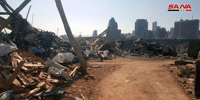 Siria recibe a sus connacionales heridos por la explosión en el puerto de Beirut