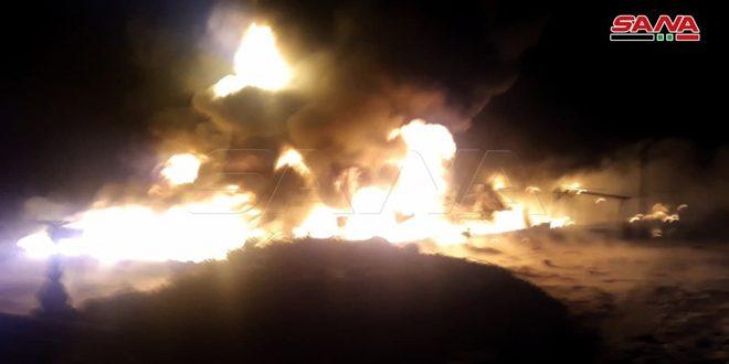 Camión cisterna estalla en la Compañía Siria de Transporte de Petróleo Crudo en Homs