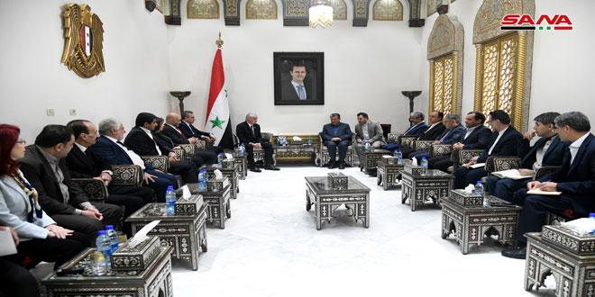 نجدت اسماعیل انزور به هیئت گروه دوستی پارلمانی ایران و فلسطین: نقش ایران در حمایت از سوریه مهم است