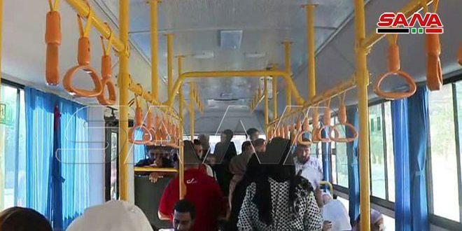 فعال سازی مجدد شرکت اتوبوسرانی در دیر الزور