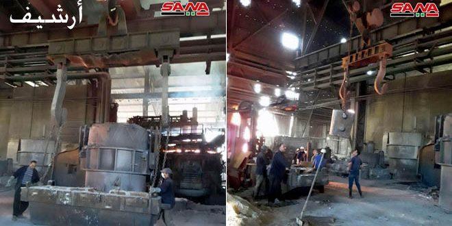 موفقیت کارگران شرکت محصولات فولادی حماه به راه اندازی کارخانه تولید اکسیژن با ظرفیت تولید 2500 متر مکعب/ساعت