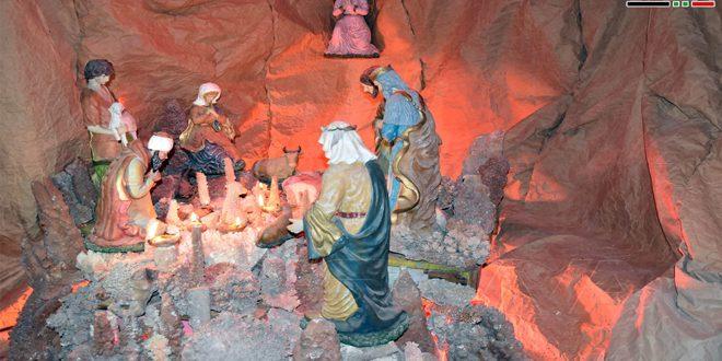 بزرگترین غار کریسمس در سوریه افتتاح شد